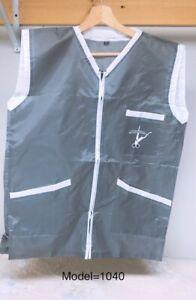 Professional Barber Vest Jacket Grey Color Ultra Lightweight
