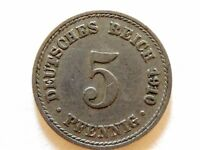 1910-A Germany Five (5) Pfennig Coin