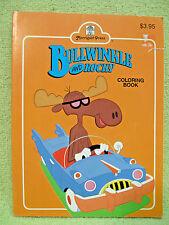 Rocky & Bullwinkle Vintage Big Coloring Book Peabody Sherman Moon Men Jay Ward