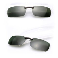 Polarized Driving Night Vision Clip-on Flip-up Lens UV 400 Sunglasses Glasses