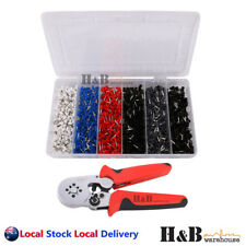1500 Pcs Bootlace Ferrule Crimper kit 0.25-10mm² Cord End Ratchet Crimping Tool