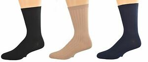 Sierra Socks Big Boys' Casual Dress Uniform Rib 3 Pair Pack Crew Socks K263 3007