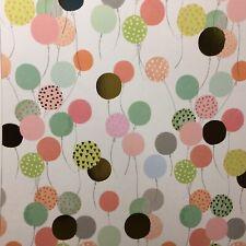 Dolls House Festive Wallpaper 1:12 Balloons Party GOLD FOIL Celebration