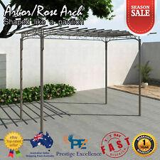 Outdoor Metal Rose Arch Garden Arbour Steel Decor Feature Pergola Climbing Frame