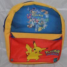 Rare Vintage Retro Pokemon Rucksack / Backpack Bag Hasbro Nintendo 2000 Pikachu