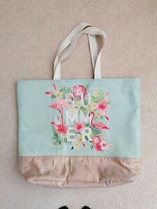 New Large Summer Flamingo Tote Shopper Beach Bag