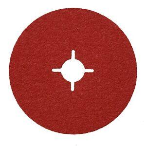"""115mm 4.5"""" Ceramic RED Sanding Discs x 25 BOX OF 25"""
