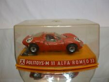 POLITOYS M11 ALFA ROMEO 33 #2  - RED 1:43 - EXCELLENT IN BOX