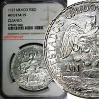 Mexico ESTADOS UNIDOS MEXICANOS Caballito Silver 1912 Peso NGC AU DETAIL KM# 453