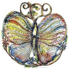 """Home Decor Metal Wall Art 24"""" Painted Butterfly Gecko Stunning Gift Fair Trade"""