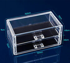 Makeup Cosmetics Jewelry Organizer Clear Acrylic Drawers Display Box Storage Z01