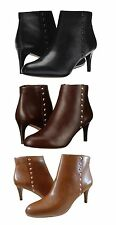 Coach Womens Hickory Side Zipper Studded Casual Platforms Heels Ankle Booties