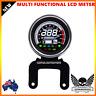 Black Digital Motorcycle 12V Universal LED LCD Odometer Speedometer fuel gauge