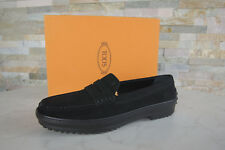 Tods Tod´s taille 38,5 Moccasins pantoufle Chaussures basses Noir Neuf