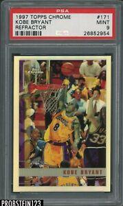 1997-98 Topps Chrome Refractor #171 Kobe Bryant Lakers HOF PSA 9 MINT