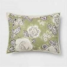 New ListingStandard Printed Quilted Pillow Sham Sage Floral - Opalhouse