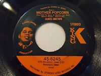 James Brown Mother Popcorn Part I & II 45 1969 King Stereo Funk Vinyl Record