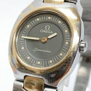OMEGA Watch Seamaster Polaris Quartz 18K Gold Plated St.Steel T2501