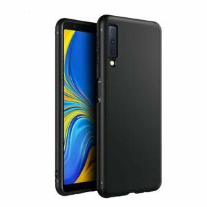 Schutzhülle Silikon - Für Samsung Galaxy A7 A8 A9 - Slim TPU Case - schwarz