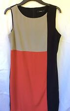 Women's George red grey black panel dress size 12