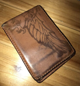 Fossil Mens Brown Rare  Wallet Pre-Owned