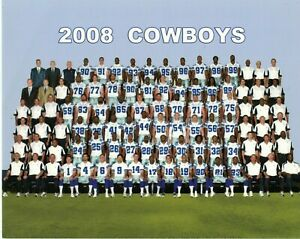 2008 DALLAS COWBOYS TEAM PHOTO 8X10
