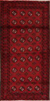 Geometric Balouch Afghan Oriental Area Rug Wool Hand-knotted All-Over Carpet 3x6