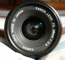 Vintage Canon MF FD 28mm, F/2.8 Lens in near mint condition