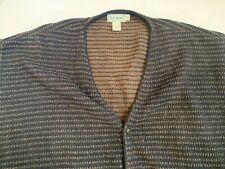LL BEAN Men's Cardigan Sweater Mens XL Tall 100% Cotton Button Front Brown Black