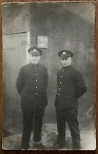 WW1 RPPC WEST YORKSHIRE & LEEDS PAL REGIMENT  SOLDIERS  GUSTROW POW CAMP GERMANY