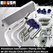 Intercooler Piping+Intercooler for 88-00 Civic D15/D16 D Series EX/Si 1.6L