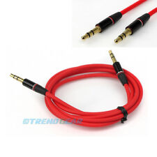 3FT 3.5MM AUX MALE AUDIO STEREO CABLE RED FOR APPLE IPHONE 5 4S 4 3GS 3G IPOD