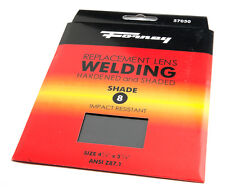 Pair of (2) Forney Industries 57050 Shade #8 Replacement Gas Welding Lens