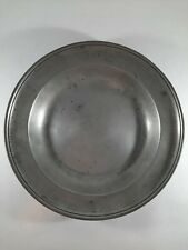 """Antique 9 1/4"""" Pewter Plate Bowl c1800 Marked on Back also Initials IDB on Front"""