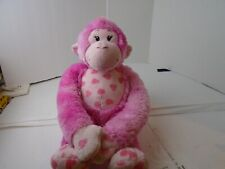 "Build A Bear Pink Heart Monkey 20"" Plush Stuffed Animal"