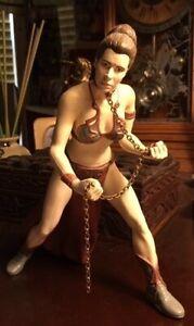 """Vintage 1998 Star Wars Jabba Slave Leia Organa 7.5"""" Statue Figure Applause"""