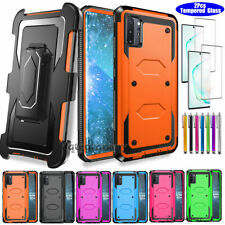 For Samsung Galaxy Note 10 Plus Case Stand Belt Clip Cover With Screen Protector