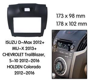 Holden Colorado RG radio DOUBLE 2 DIN facia Fascia Dash Panel trim plate