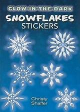 Glow-in-the-Dark Stickers: SNOWFLAKES, Dover, 12 silvery, rainbow-tinged images