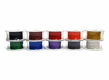 1 Roll Wire-Wrapping Wire Silver-Plated Copper 500Ft 30AWG RoHS any Color of 10