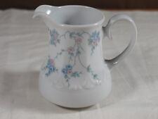 Kaffeeservice Milchkännchen Mitterteich Porzellan 140 blau rosa Blumen