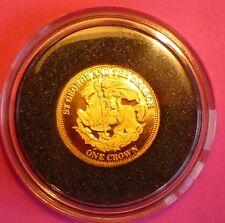 2009 TDC St George Y El Dragón una Corona 24 Ct Oro moneda de prueba y Coa