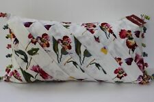MACDOUGAL & HOUSTON FLORAL DECORATIVE THROW PILLOW IVORY/PINK 14x26