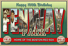 HAPPY BIRTHDAY FENWAY PARK-Large Letter Postcard-Signed Larry Fulton-Ltd Ed 100