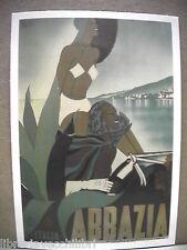Cartolina riproduzione MANIFESTO DI ABBAZIA 1938 Filippo Romoli 1909-1969 Istria