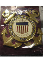 MILITARY EMBLEM/MEDALLION - UNITED STATES COAST GUARD - SOLID BRASS