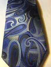 Blue And Silver John Ashford Hand Made Neck Tie (P279)