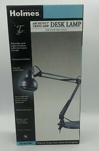 Holmes Multi Purpose Architect Magnifier Swing Arm Desk Lamp HL-1667MBL - New