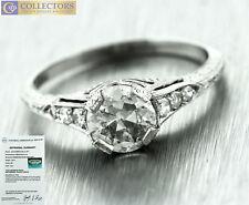 Ladies Vintage Estate Platinum 1.19ctw Diamond Engagement Ring EGL USA