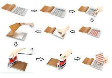 10 holes Manual Blister packaging Sealing machine for 0# capsules 2*5 pcs